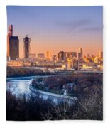 Moscow City Fleece Blanket