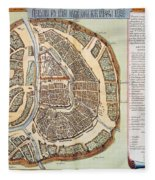 Moscow: Map, 1662 Fleece Blanket