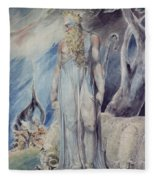 Moses And The Burning Bush Fleece Blanket