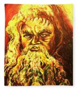 Moses At The Burning Bush Fleece Blanket