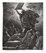Moses Breaking The Tablets Of The Law Fleece Blanket