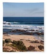 Moses Rock Beach 01 Fleece Blanket