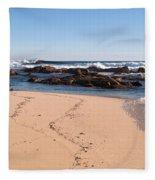 Moses Rock Beach 02 Fleece Blanket
