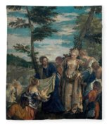 Moses Saved From The Waters Fleece Blanket