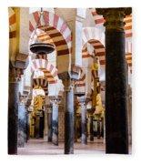 Mosque Cathedral Of Cordoba  Fleece Blanket