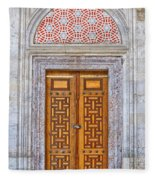 Mosque Doors 04 Fleece Blanket