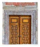 Mosque Doors 05 Fleece Blanket