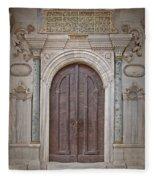 Mosque Doors 13 Fleece Blanket