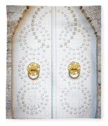 Mosque Doors 14 Fleece Blanket