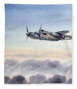 Mosquito Aircraft Fleece Blanket