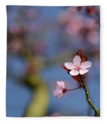 Moss And Blossoms Fleece Blanket