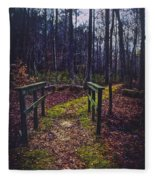 Moss Covered Path Fleece Blanket