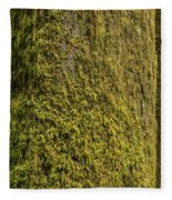 Moss Covered Tree Olympic National Park Fleece Blanket