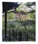 Moss Garden Temple - Kyoto Japan Fleece Blanket