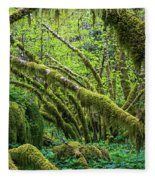 Moss Grows On Vine Maple Trees  Acer Fleece Blanket