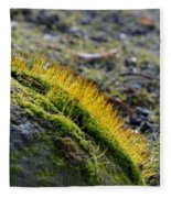 Moss In The Light Fleece Blanket