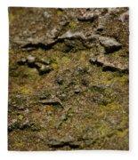 Moss On Rock Fleece Blanket