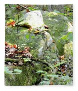 Moss Rock 3 Fleece Blanket