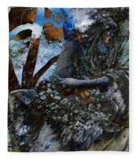 Moss Veils And Illuminated  Fleece Blanket