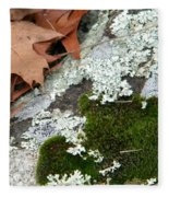 Mossy Leaves Fleece Blanket