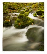 Mossy Rocks Along Lavis Brook In The Fleece Blanket