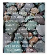 Most Powerful Prayer With Beachrocks Fleece Blanket