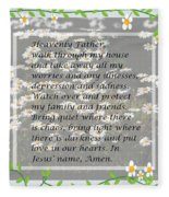 Most Powerful Prayer With Daisies Fleece Blanket