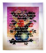 Most Powerful Prayer With Flowers In A Vase Fleece Blanket