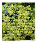 Most Powerful Prayer With Ladies Mantle Fleece Blanket