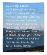 Most Powerful Prayer With Ocean View Fleece Blanket