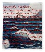 Most Powerful Prayer With Ocean Waves Fleece Blanket