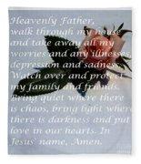 Most Powerful Prayer With Rosebud Fleece Blanket