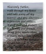 Most Powerful Prayer With Seascape Fleece Blanket