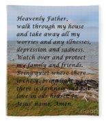 Most Powerful Prayer With Seashore Fleece Blanket