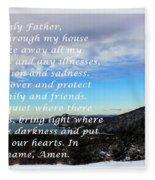 Most Powerful Prayer With Winter Scene Fleece Blanket