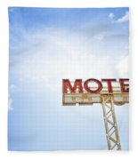 Motel Sign Fleece Blanket