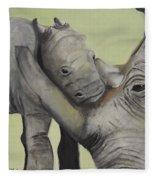 Mother And Baby 1 Fleece Blanket