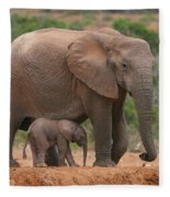 Mother And Calf Fleece Blanket