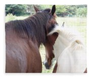 Mother And Daughter Private Moment Fleece Blanket