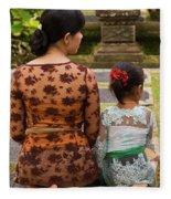 Mother And Daughter Fleece Blanket