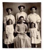 Mother And Daughters Fleece Blanket