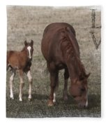 Mother And Son Love Fleece Blanket