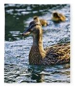 Mother Duck Fleece Blanket