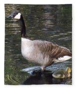 Mother Goose Is Watching Fleece Blanket