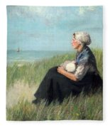 Mother In The Dunes Fleece Blanket