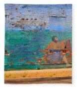 City Mural - Mother Mary Fleece Blanket
