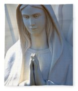 Mother Mary Statue Fleece Blanket