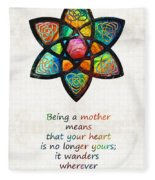 Mother Mom Art - Wandering Heart - By Sharon Cummings Fleece Blanket