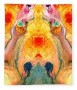 Mother Nature - Abstract Goddess Art By Sharon Cummings Fleece Blanket