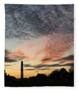 Mother Nature Painted The Sky Over Washington D C Spectacular Fleece Blanket